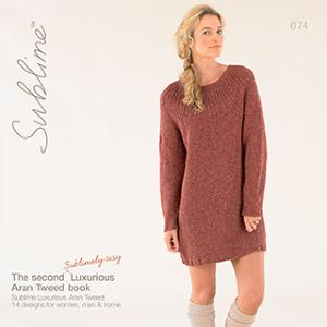 Sublime 674 The 2nd Luxurious Aran Tweed Book