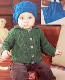 Cardigan, blanket and hat Sirdar 1467