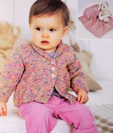 Sirdar 1494 baby cardigan and blanket