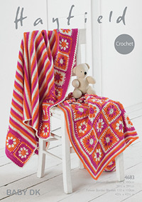 Crochet DK blankets Hayfield 4683 Digital Version
