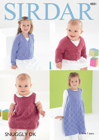 DK cardigan and pinafore Sirdar 4881 Digital Download