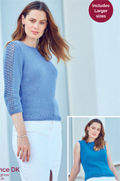 Hayfield Sundance pattern 8263 DK Sweater PDF Download
