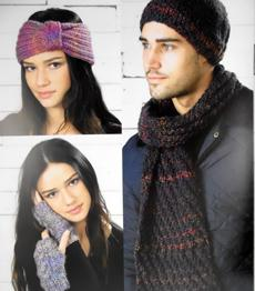 Chunky scarf, beanies, headband, wristwarmes Wendy 5738 digital version
