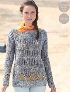 Crochet sweater Sirdar 7030