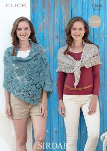 Wrap and shawl, Sirdar 7046