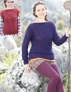 Chunky sweater and top Sirdar 7147 Digital Download