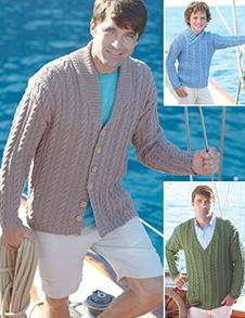 Aran sweater and cardigan Sirdar 7270 Digital Download