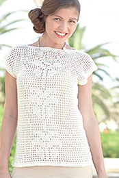 4 ply crochet top Sirdar 7305