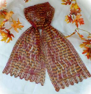 Colourful Splendour Lace Scarf, Heartstrings H41 Digital Download