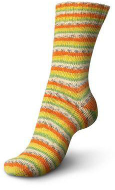 Regia 2417, Papaya 4 ply sock yarn Cotton Tutti Frutti Color