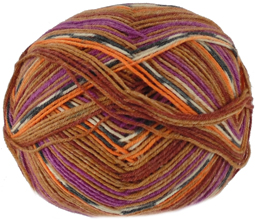 Austermann Step 4 ply sock yarn, Harlequin 253