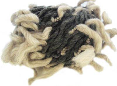 Katia Polo Sur scarf yarn, 402 grey oatmeal