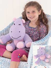 DK hippopotamus toy Sirdar 4761 Digital Download