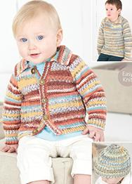 Cardigan, Sweater and Hat Sirdar 4479