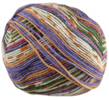 Opal 4 ply sock yarn Illusion 9316, Disc Jockey