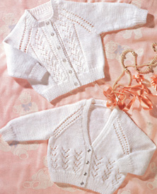 DK and 4 ply babies cardigans Peter Pan 846 Download