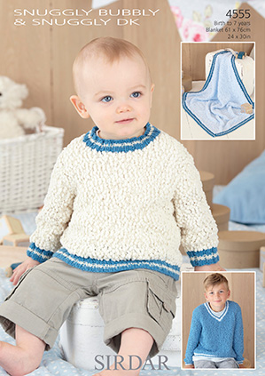 DK sweaters and blanket Sirdar 4555 Digital Download