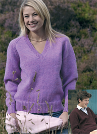 V neck raglan sweater Wendy 5199, Digital Version