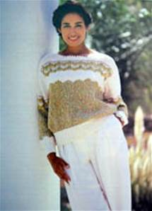 Sweater Jaeger 6450 A Womens Dk Double Knitting Knitting Pattern