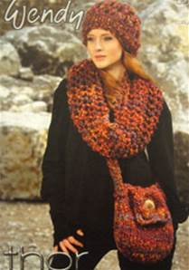 Superchunky waistcoat, cowl, hat, bag Wendy 5679 digital version
