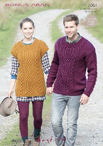 Sweater and tunic Hayfield 7061