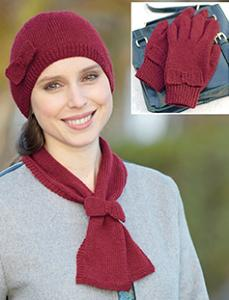 Hat, scarf and gloves Sirdar 7115
