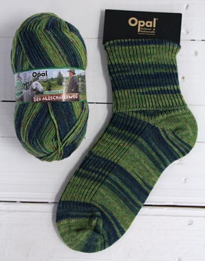 Opal sock yarn 9415 Heath Land Schafpate 9