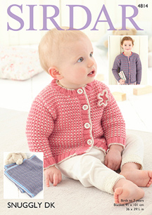 DK cardigans and blanket Sirdar 4814 Digital Download