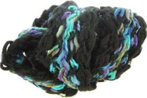 Katia Vienna scarf yarn, 124 black and blue