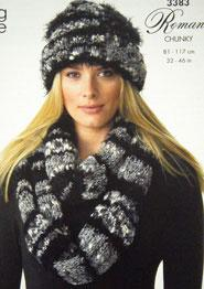 Bolero, hat and scarf, King Cole 3383