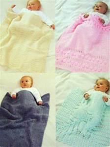 6d57b9052 Sirdar 1362 DK crochet pattern for 4 baby blankets