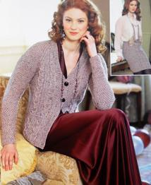 Cardigan and skirt Hayfield 9802
