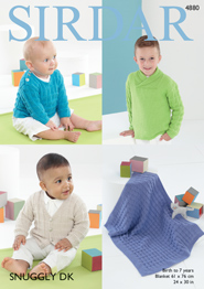 DK sweaters and blanket Sirdar 4880 Digital Download