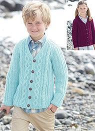 Aran cardigan Sirdar 2427 Digital Download