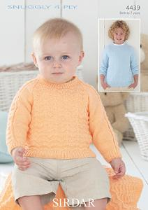 Sweater and blanket Sirdar 4439
