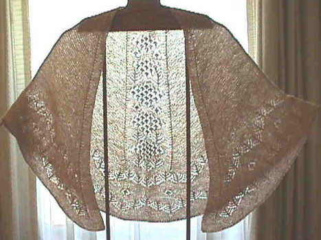 Shetland Lace Patterned Faroese Shawl, Digital Download