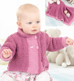 DK and chunky jacket and blanket, Sirdar 4560 Digital Download