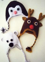 Crochet animal hats Wendy 5709