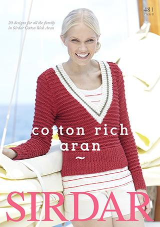 Cotton Rich Aran, Sirdar 481