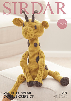 Crochet giraffe toy Sirdar 2473 Digital Version