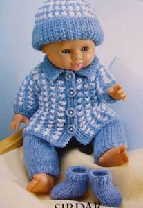 Doll clothes Sirdar 3124