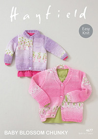 Chunky cardigans Hayfield 4677 Digital Version