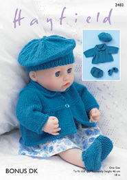 Hayfield 2483 DK dolls clothes, Digital Download