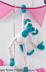 Crochet monkey Sirdar 5156, Digital Download