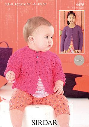 Matinee coat and cardigan Sirdar 4476