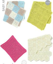 Crochet baby blankets Sirdar 4533, Digital Version