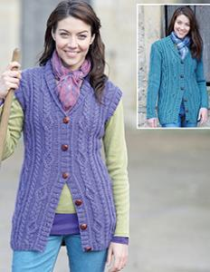 Cardigan and waistcoat Hayfield 7135
