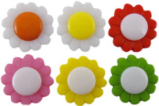 Coloured Daisy Buttons