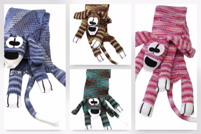 Doogle Dog scarf knitting kits