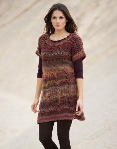 Aran womans sweater dress Azteca 5 digital version